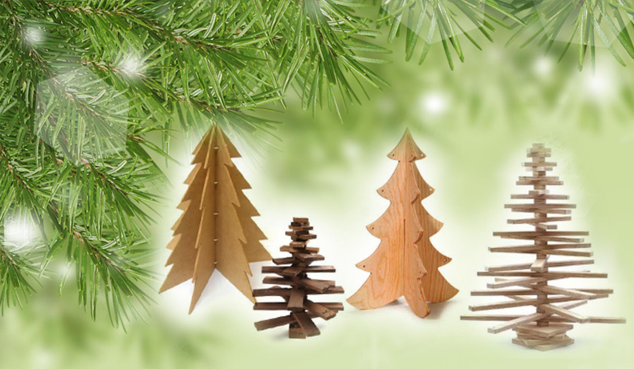 Slik lager du et juletre av tre