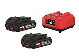 SKIL Batterier ('20V Max' (18 V) 2,0 Ah 'Keep Cool™' Li-Ion) og lader