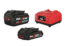 SKIL Batterier ('20V Max' (18 V) 2,0 og 4,0 Ah 'Keep Cool™' Li-Ion) og lader
