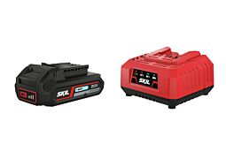 SKIL Batteri ('20V Max' (18 V) 2,0 Ah 'Keep Cool™' Li-Ion) og lader