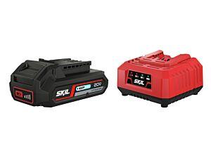 SKIL 3110 AA Batteri ('20V Max' (18 V) 2,5 Ah 'Keep Cool' Li-Ion) og lader
